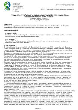 Edital nº 68/2015 - Secretaria de Direitos Humanos