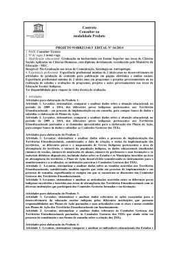 Contrata Consultor na modalidade Produto