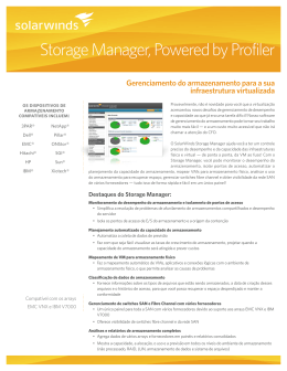 Storage Manager, Powered by Profiler