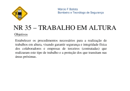 Márcio F Batista - NR 35 TRABALHO EM ALTURA