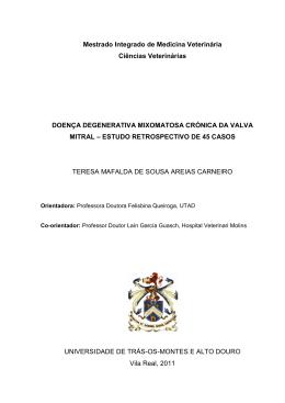 Doença degenerativa mixomatosa crónica da valva mitral
