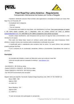 Regulamento em português - Spelaion