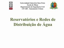 Aula 10 - Reservação e redes de distribuição de
