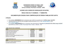 Lista candidatos gerais Salvador - Ufba