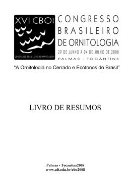 CARVALHO, R. B. A. Comportamento reprodutivo de Mergus