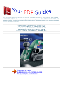 Manual de instruções PARKSIDE KH 3131 POWER PLANER