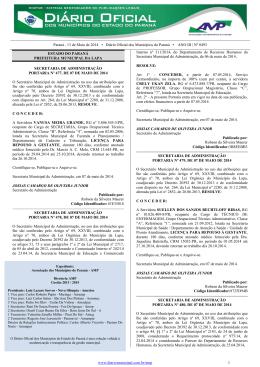 Paraná , 13 de Maio de 2014 • Diário Oficial dos Municípios do