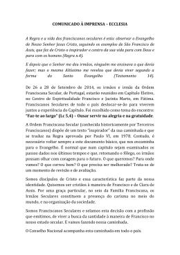Carta enviada à Ecclesia e à Conferência Episcopal Portuguesa