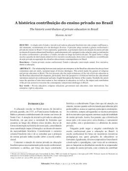 A histórica contribuição do ensino privado no Brasil