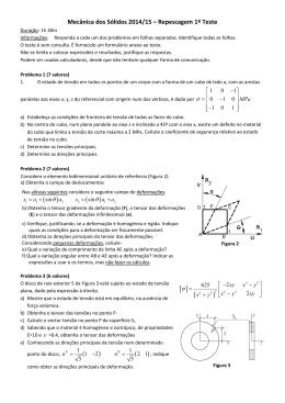 Mecânica dos Sólidos 2014/15 – Repescagem 1º Teste