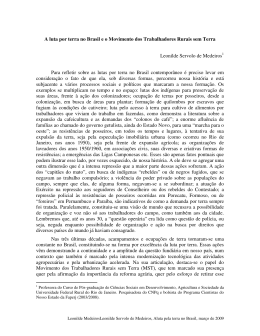 A luta por terra no Brasil e o Movimento dos Trabalhadores Rurais