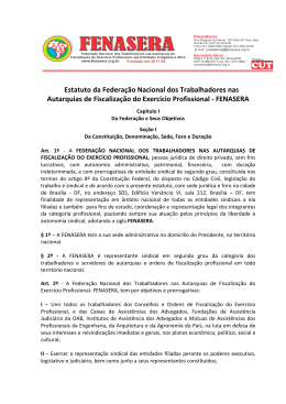 Estatuto da Federação Nacional dos Trabalhadores - sinsercon-rs