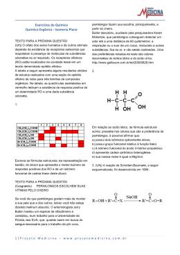 Isomeria Plana - Exercícios