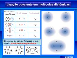 Química Ligação covalente em moléculas diatómicas