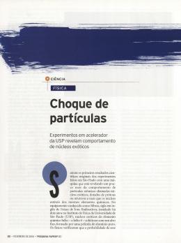 Choque de partículas - Revista Pesquisa FAPESP