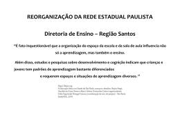 Reorganização Diretoria de Ensino Região Santos