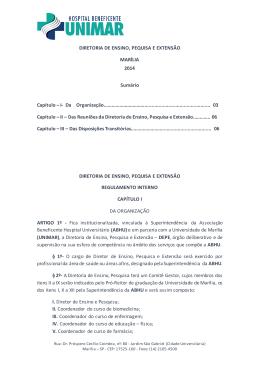 DIRETORIA DE ENSINO, PEQUISA E EXTENSÃO MARÍLIA 2014
