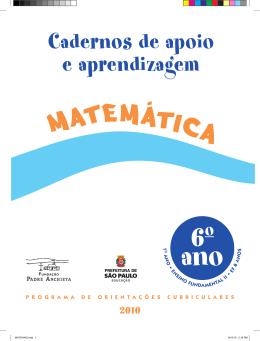 Cadernos de Apoio e Aprendizagem - Matemática