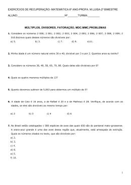 1 exercícios de recuperação- matemática 6º ano-profa. m.luisa