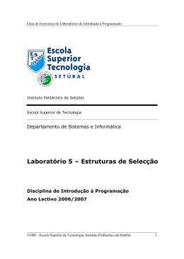 Laboratório 5 - Instituto Politécnico de Setúbal