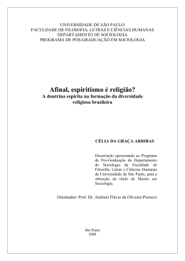 Afinal, espiritismo é religião?: a doutrina espírita na formação da