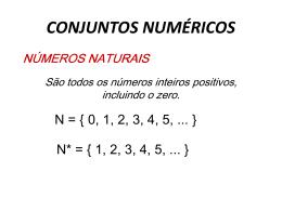 Conjuntos Númericos - aula 02 - Luiz Luz