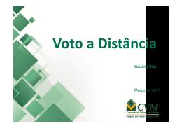 Voto a Distância - Luciana Dias