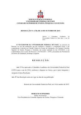 Resolução n. 4.728, de 14 de outubro de 2015