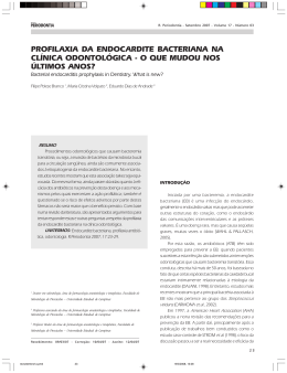 profilaxia da endocardite bacteriana na clínica