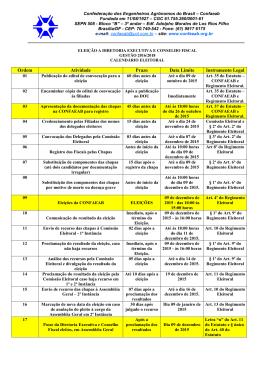 CALENDÁRIO ELEITORAL 2015