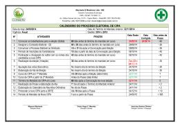 Calendário CIPA 2014-2015