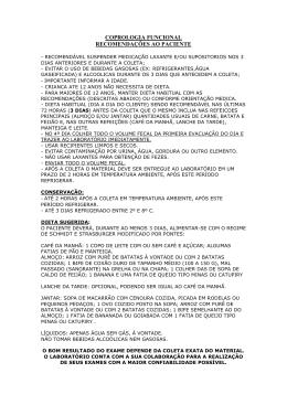 Instruções para coleta de Coprologia Funcional
