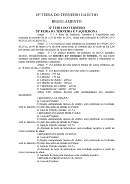 18ª FEIRA DO TERNEIRO GAÚCHO - Sindicato Rural de Alegrete