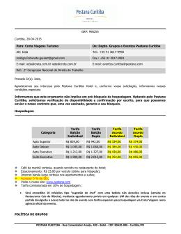 GRP: 990255 Curitiba, 28-04-2015 Para: Creta Viagens Turismo De