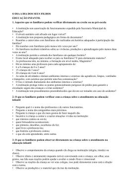 O DIA A DIA DOS SEUS FILHOS EDUCAÇÃO