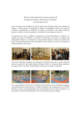 【Eventos de apresentação das artes marciais japonesas I