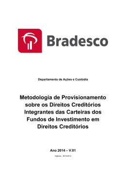 Metodologia de Provisionamento sobre os Direitos Creditórios