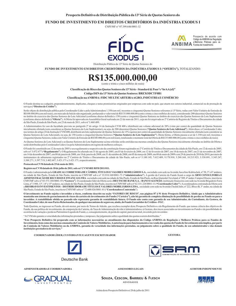 Prospecto Definitivo FIDC Exodus I 30ad7b676cdaf