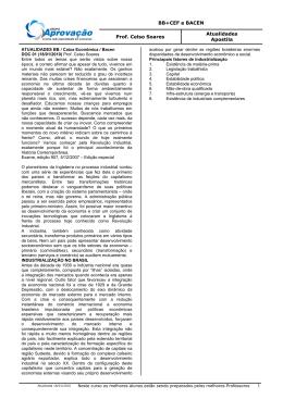 BB+CEF e BACEN Prof. Celso Soares Atualidades Apostila 1
