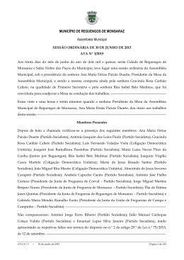 Ata - Município de Reguengos de Monsaraz
