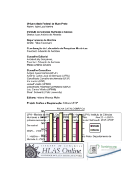 revista lph n° 20 - Instituto de Ciências Humanas e Sociais