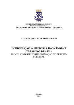 Introdução à história das línguas gerais no Brasil: processos
