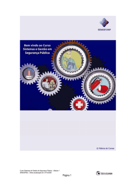Curso de Sistemas e Gestão em Segurança Pública