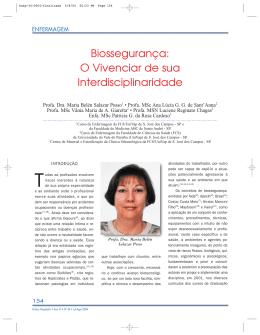 Biossegurança: o vivenciar de sua interdisciplinaridade
