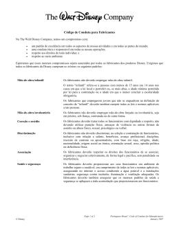 Código de Conduta para Fabricantes