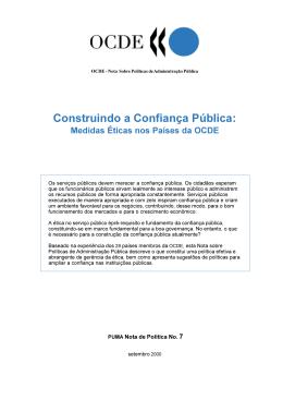 Construindo a Confiança Pública: Medidas Eticas nos Países da