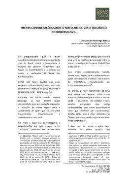 Modificação no Código de Processo Civil com a inclusão do art. 285-B