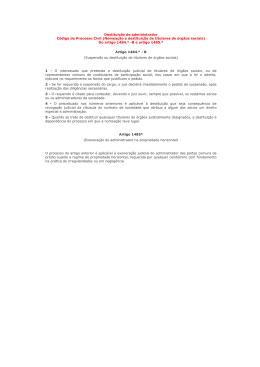 Destituição de administrador Código de Processo Civil (Nomeação