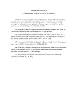 Averbação Premonitória (Dispositivos do Código de Processo Civil