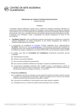 Normas - Fundação Calouste Gulbenkian